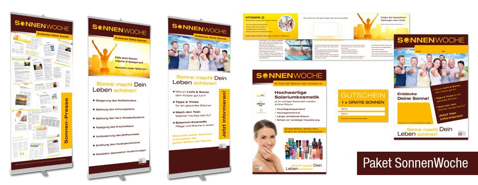 SUNS. Professional Beauty - Marketingpaket Sonnenwoche