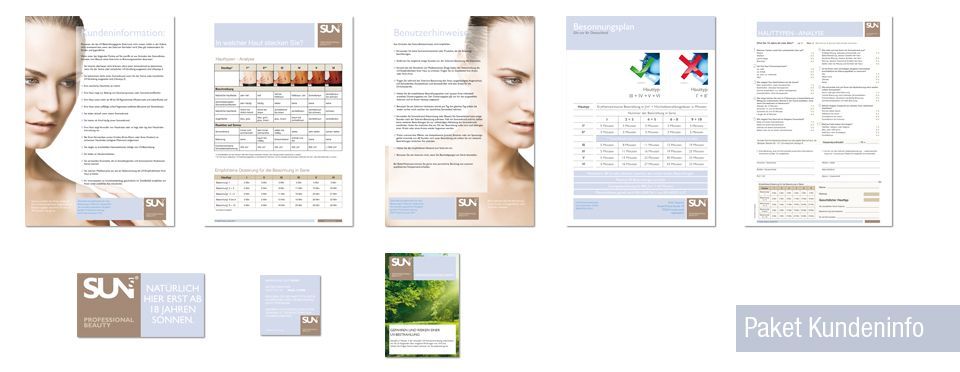 SUNS. Professional Beauty - Marketingpaket Kundeninfo